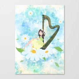 Harp girl 3: Daisy Canvas Print