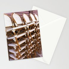 Paris Café Chairs Stationery Cards