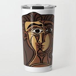 Pablo Picasso, Tete de Femme (Head Of A Woman) 1962 Artwork Reproduction Travel Mug