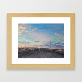 The way home_State Route 1 Framed Art Print
