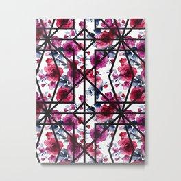geo floral Metal Print