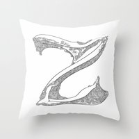 "dragonball z Throw Pillows featuring ""Z"" by varvar2076"
