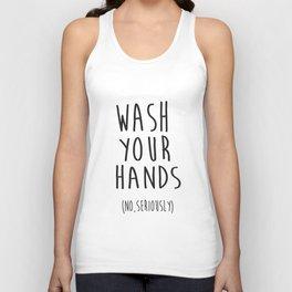 Wash Your Hands Bathroom Print Bathroom Decor Nursery Print Nursery Quote So Fresh And So Clean Unisex Tank Top