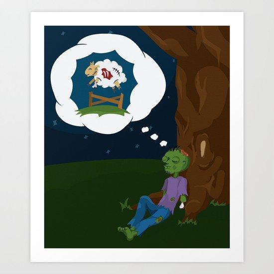 The Dead Do Dream Art Print
