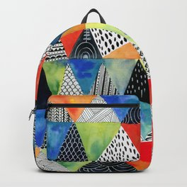 Doodled Geometry Backpack
