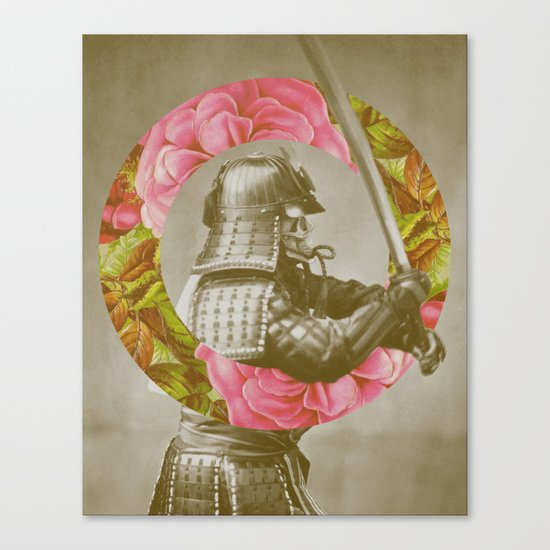 Botanical Samurai Canvas Print