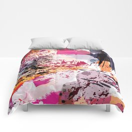 7: a vibrant abstract in jewel tones Comforters