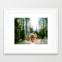 "the hobbit Framed Art Prints featuring ""HOBBIT HOUSE"" by FOXART  - JAY PATRICK FOX"