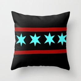 chicago flag Throw Pillow