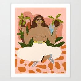 Crazy Plant Lady II Art Print