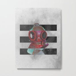 Old school helmet Metal Print