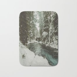 Adventure Awaits River II - Pacific Northwest Nature Photography Bath Mat