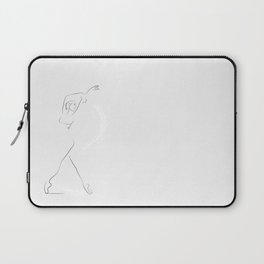 'Reminisce', Dancer Line Drawing Laptop Sleeve