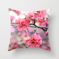 Evening Quince Throw Pillow