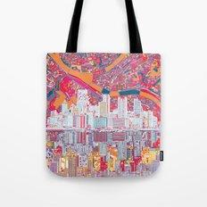 pittsburgh city skyline Tote Bag