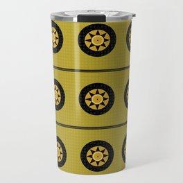 Black sun band Travel Mug