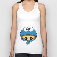 cookie monster Tank Tops featuring Cookie Monster Boy  by aldarwish