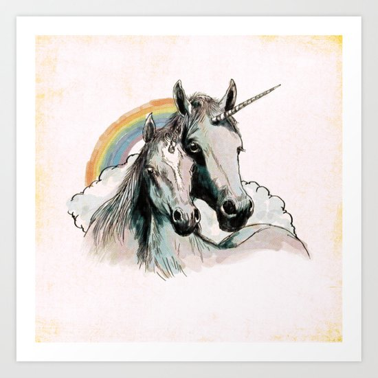Unicorn III Art Print