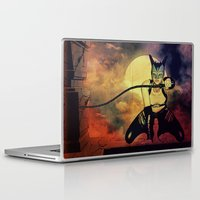 catwoman Laptop & iPad Skins featuring catwoman by Ancello