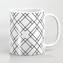 Simply Mod Diamond Black and White Coffee Mug