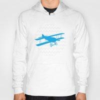 airplane Hoodies featuring Chevron Airplane by C Designz