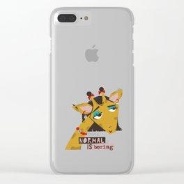 Stylish giraffe Clear iPhone Case