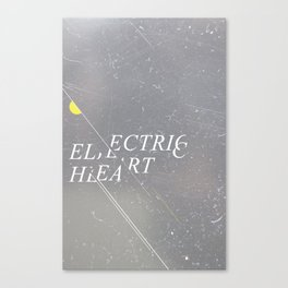 Electric Heart Canvas Print