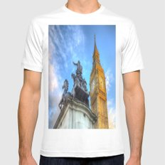 Big Ben and Boadicea Statue  MEDIUM Mens Fitted Tee White