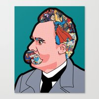 nietzsche Canvas Prints featuring Mix - Nietzsche by Greg Guillemin