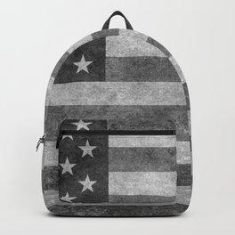 USA flag - Grayscale high quality image Backpack