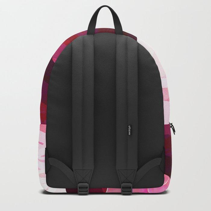 Serene Contemporary Flower Design Backpack