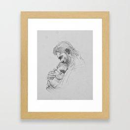 Christ and Infant Framed Art Print