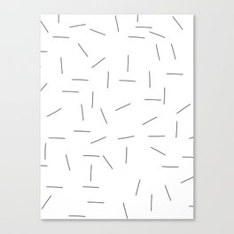 Scattering in black and white Canvas Print