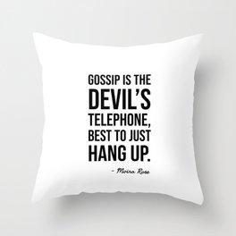Moira's Devil Telephone Throw Pillow