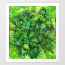 Through the Emerald Canopy Art Print