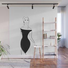Lady in Black Wall Mural