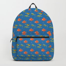 Just Some Pacific Fish Pattern Backpack