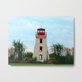 Garden Lighthouse Metal Print