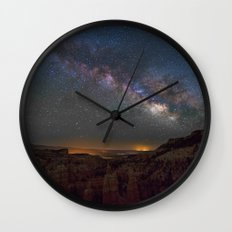 Fairyland Canyon Starry Night Photography Wall Clock