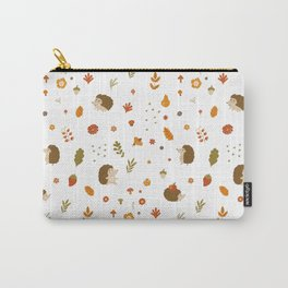 children hedgehog pattern, forest design Carry-All Pouch