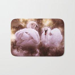 Swans In Love Bath Mat