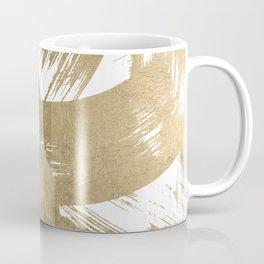 Elegant chic faux gold foil brushstrokes pattern Coffee Mug