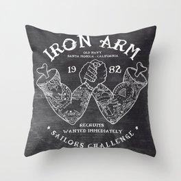 Iron Arm Throw Pillow