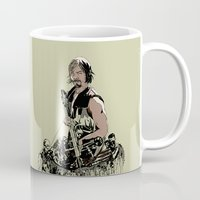 daryl Mugs featuring Daryl Dixon by Huebucket