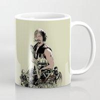 daryl dixon Mugs featuring Daryl Dixon by Huebucket