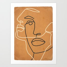 Abstract Face 6 Art Print