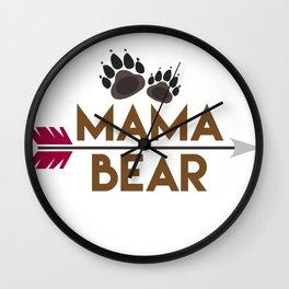 Mama Bear Mothers Day Gift - Shirt Wall Clock