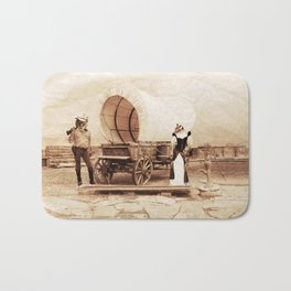 Old West Cowboy Cat and his Gal Bath Mat