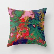 Psychedelic Garden Throw Pillow