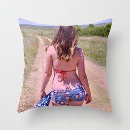 American Backroads Throw Pillow